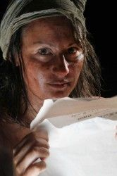 I like the make up used, but I feel the paper should be yellowing to show poor conditions.