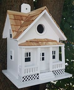 Birdhouses  Home Bazaar Beachside Cottage - White Garden *** This is an Amazon Associate's Pin. Details on product can be viewed on the website by clicking the image.