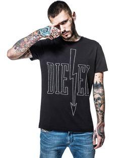 Camiseta Diesel Men's Reboot-T-Arrows Black Diesel Shirts, Arrow T Shirt, Diesel Store, Unisex, Short Sleeves, My Style, Arrows, Mens Tops, How To Wear