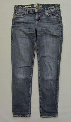 """Kut From The Kloth Jeans 4 Catherine Boyfriend Dark Distress Straight Denim 30"""" #KUTfromtheKloth #Boyfriend"""