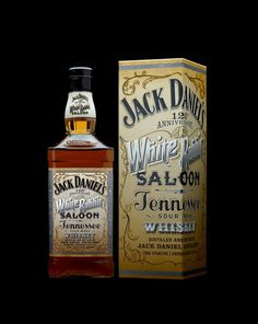 Jack Daniels 120th Anniversary Bottle Design by Stranger & Stranger - design celebrates the White Rabbit Saloon opened by Mr Jack Daniels - gorgeous
