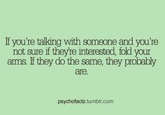 If you're talking with someone..