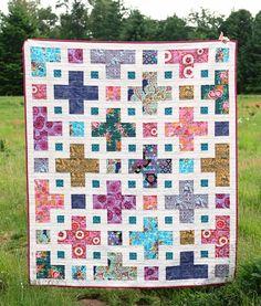 The Violet Quilt Pattern - Kitchen Table Quilting Patchwork Quilt Patterns, Scrappy Quilts, Quilt Patterns Free, Fat Quarter Quilt Patterns, Jellyroll Quilts, Simple Quilt Pattern, Beginner Quilt Patterns, Batik Quilts, Patchwork Bags