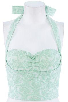 ROMWE | Green Lace-up Bandeau, The Latest Street Fashion #ROMWEROCOCO