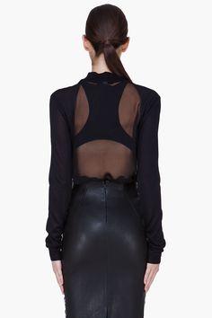 Cushnie Et Ochs Black Silk Blouse for Women | SSENSE