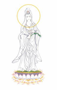 Buddha Tattoo Design, Buddha Tattoos, Lotus Flower Art, Drawing Sketches, Drawings, Tibetan Art, Buddha Art, Guanyin, Zen Art