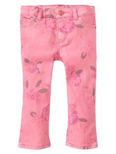 Gap | Floral printed skinny jeans