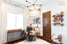 See Alexa and Carlos PenaVega's Nursery for Son Ocean King! We created two beach-themed canvas prints for them to hang in this adorable room.