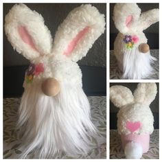 "Easter ""Lilly"" Gnome Cute as a bunny! Handmade by me :-) Spring Crafts, Holiday Crafts, Diy Arts And Crafts, Diy Crafts, Christmas Gnome, Craft Night, Craft Party, Valentines Diy, Easter Crafts"