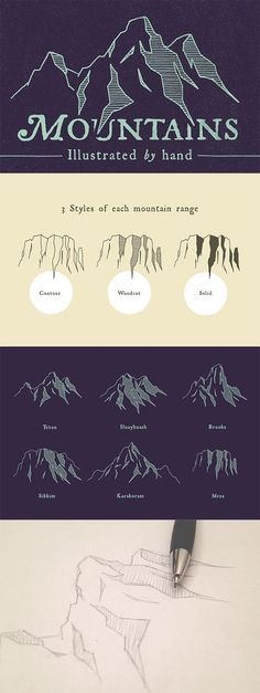 The mountains are calling! #Drawingtips