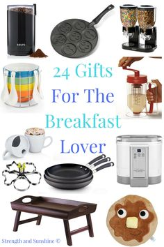 24 Gifts For The Breakfast Lover | Strength and Sunshine @RebeccaGF666 It's the most important meal of the day! Cozy, delicious, and practical things to start the day right! Here are 24 Gifts For The Breakfast Lover in your life to bring some extra sunshine and smiles in the morning!