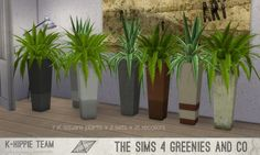 Simsworkshop: K Square Plants - 2 set 1 by • Sims 4 Downloads