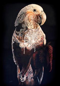 The Kākā is Calling | Sofia Minson Oil Painting | New Zealand Artwork