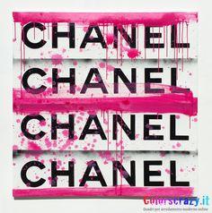 Quadro moderno Chanel Art dipinto su tela - Acquista su www.colorscrazy.it