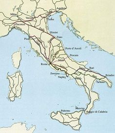 Map of Ancient Roman Roads
