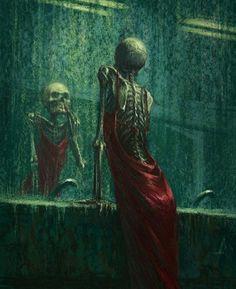 Creepy Art, Weird Art, Surealism Art, Pinturas Disney, Psy Art, Arte Obscura, Skeleton Art, Dark Fantasy Art, Psychedelic Art