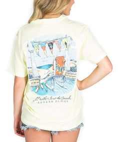 Another great find on #zulily! Yellow 'I'd Rather Be at the Beach' Tee #zulilyfinds