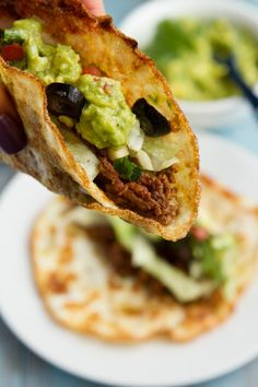 Soft Tortilla Tacos (corn-free, paleo, dairy-free, keto + low-carb) Source by foxyasian Keto Foods, Healthy Low Carb Recipes, Paleo Recipes, Healthy Snacks, Cooking Recipes, Healthy Eating, Bariatric Recipes, Entree Recipes, Ketogenic Recipes