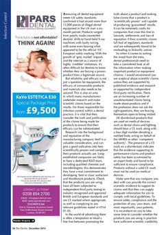 Peter Bacon - Scientifically proven - The Dentist, December 2014 (34/36). Page 2 of 2.