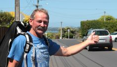 Hitching for charity http://www.givealittle.co.nz/cause/johnsjourney