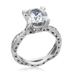 Platinum & Diamond Twist Setting by Tacori (Available at Michael C. Fina)
