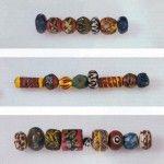 Glasperlen einer Halskette aus Grab 659  Straubing-Bajuwarenstraße (Foto: Gäubodenmuseum Straubing)