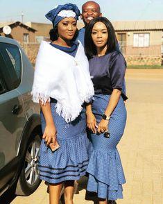 Stunning Seshoeshoe Patterns 2020 Most Beautiful Materials Setswana Traditional Dresses, African Fashion Traditional, African Traditional Wedding, African Fashion Designers, African Print Fashion, African Fashion Dresses, African Prints, African Attire, African Dress