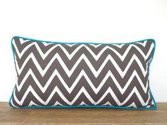 Gray outdoor lumbar pillow by anitascasa
