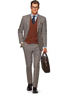 Suit Blue Check Hudson P4724 | Suitsupply Online Store | Suits ...