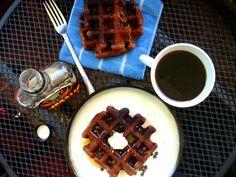 Chocolate waffles from PaleOMG