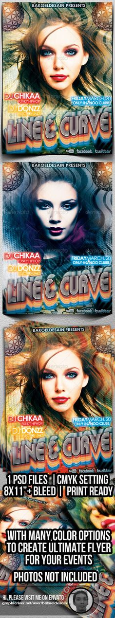 Line and Curve Music Flyer