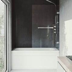 online shopping for Rialto 34 W x 58 H Hinged Frameless Tub Door VIGO from top store. See new offer for Rialto 34 W x 58 H Hinged Frameless Tub Door VIGO Cleaning Shower Glass, Glass Shower, Shower Tub, Glass Bathtub, Shower Heads, Bathtub Doors, Frameless Shower Doors, Chrome Towel Bar, Shower Cleaner