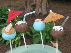 Hawaiian Cake Pops for Molly's summer girlie party
