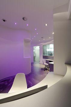 dental office color lighting ideas - purple
