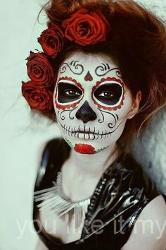 You Like It My...: Sugar Skull Makeup For Girls On Halloween Dead day or originally referred to as United States intelligence agency de-Muertos, sugar skull make up how to. sugar skull halloween decor. sugar skull face paint. skull pictures to draw. halloween skeleton face paintings. best paint for sugar skull. sugar skull makeup. #Halloween #sugarskull #makeup
