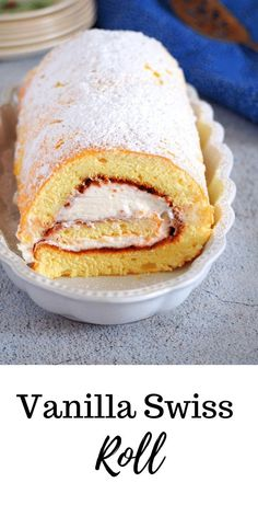 Vanilla Swiss Roll - Woman Scribbles Soft vanilla chiffon rolled and filled with whipped cream and jam, you will love this Vanilla Swiss Roll along with your coffee for a quick delight! Cake Filling Recipes, Cake Roll Recipes, Dessert Recipes, Vanilla Cake Roll Recipe, Just Desserts, Delicious Desserts, Yummy Food, Cupcakes, Cupcake Cakes