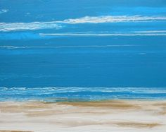 A Day at the Beach Original Abstract Seascape Painting by Colorado Abstract Artist Kimberly Conrad/Spring Promotion, painting by artist Kimberly Conrad