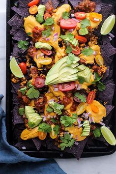 Vegetarisk tex mex panna med tortillachips