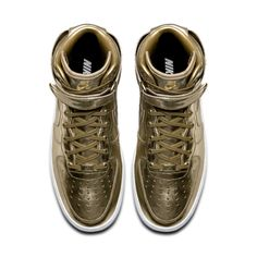 GOLD x AIR FORCE 1s
