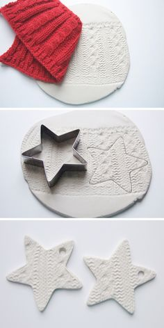 make air dry clay knitted embossed christmas star decorations . - make air dry clay knitted embossed christmas star decorations Source by - Clay Christmas Decorations, Christmas Clay, Diy Christmas Ornaments, Simple Christmas, Holiday Crafts, Christmas Stars, Christmas Presents, Tree Decorations, Chritmas Diy