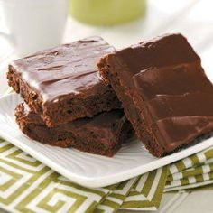 Rich Chocolate Brownies Recipe -I'm one of those people who need chocolate on a regular basis. I looked high and low for a rich brownie recipe that called for cocoa instead of chocolate squares...and this is it. My family loves these brownies - they never last more than a day at our house. -Karen Trapp, North Weymouth, Massachusetts