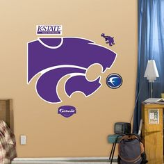 Fathead Kansas State Wildcats Logo Wall Decals, Multicolor