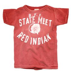 DENIM DUNGAREE(デニム&ダンガリー):ビンテージテンジク NICE BUDDIES Tシャツ 5R赤 の通販【ブランド子供服のミリバール】