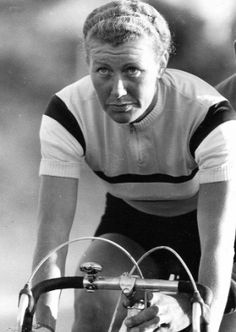 The incredible British cyclist Beryl Burton, seven times world champion, who often competed against (and beat) the men.