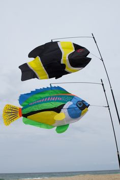 Swimming Fish by Premier Kites - Peacock Wrasse and Damsel Fish #tropical #fish #windsock #garden #decor #summer
