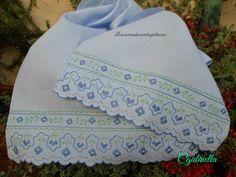 asciugamani pinto pieno, erba , catenella, catenella doppia, festone