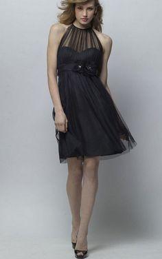 Knee-length Natural Sleeveless A-line Criss-cross Bridesmaid Dresses