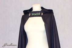 Cape with hood, cloak, embroidery, celtic, pagan, pagan wedding, medieval, renaissance