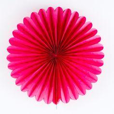 "Tissue Paper Medallion - Dark Pink - 16"" at The TomKat Studio"