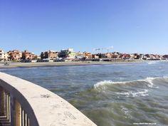 Lido di Ostia: view from Pontile https://aladyinrome.com/2017/02/17/%EF%BB%BFa-winter-walk-in-lido-di-ostia-with-lady/  #ostia #rome #aladyinrome #beach #visitrome